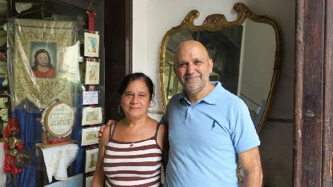 Luciano Cottone con la moglie