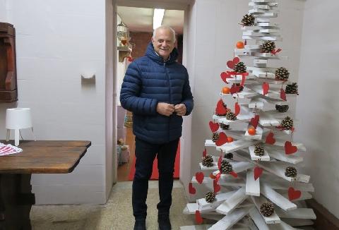 Franco Spoto e l'albero di Natale